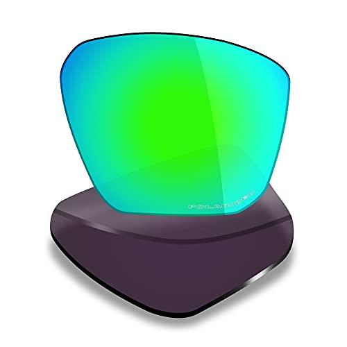 Mryok Lentes de repuesto para Oakley Targetline - Opciones, verde (Polarizado anticorrosión de agua de mar, verde esmeralda), Talla única