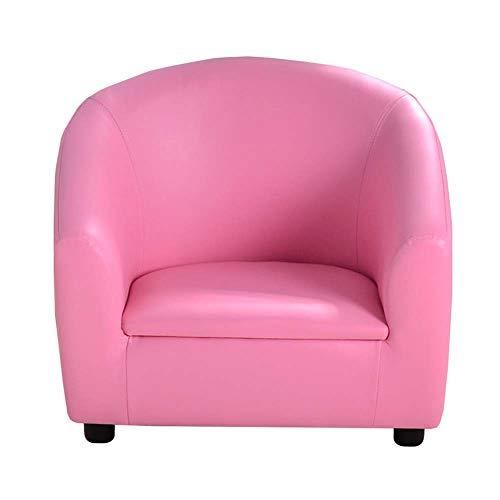 WJHH Leder-Sessel weiches bequemes Mini Kinder Sofa für Mädchen-Jungen-Wohnzimmer Schlafzimmer,Rosa,59 * 45 * 49CM