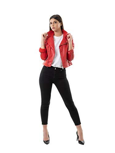 Guess Khloe Jacket Jacken Damen Rot - M - Lederjacken/Kunstlederjacken Outerwear