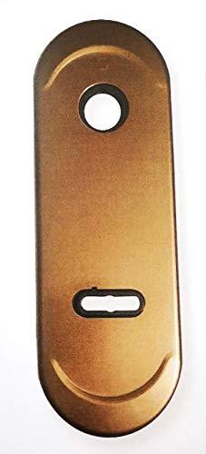 Mostrina in alluminio doppia mappa colore bronzo interasse 85 mm.-placca per porta blindata,placchetta-borchia ATRA-DIERRE-(mm.h.182x62).Bocchetta completa di sottoplacca e inserti chiave