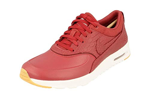 NIKE Air Max Thea PRM Womens Running Trainers 616723 Sneakers Shoes (UK 5.5 US 8 EU 39, Cedar Gum Yellow White 604)