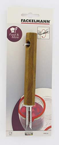 FACKELMANN 30382 Einmachglasöffner, Holz/Edelstahl, Braun