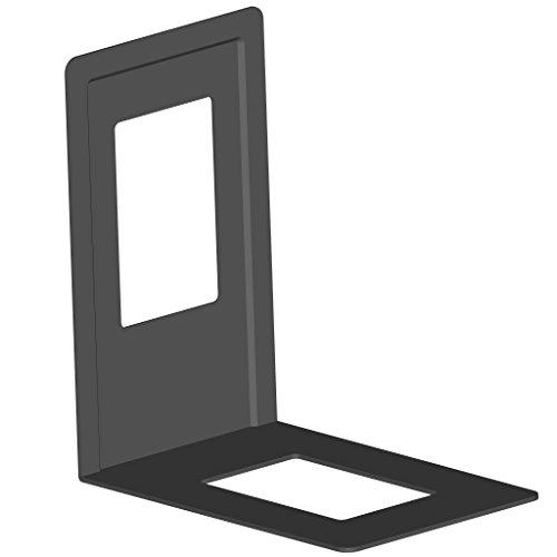 Element System Buchstützen aus Metall, 120 x 130 mm, 4 Stück, schwarz, 10803-00001