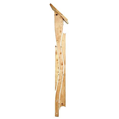 Weidenprofi Nistkasten, Vogelhaus mit Standfuss aus Lärchenholz, Modell Morgentänzer, Höhe ca. 300 cm, ohne Futterstation