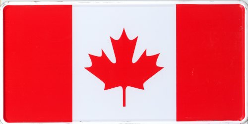 Schilderfeuerwehr Nummernschild Kanada Flagge Fahne Retro deko dekoration