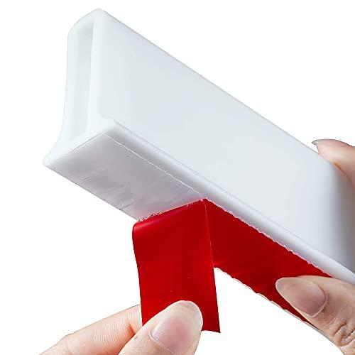LGESR Barrera de Ducha y Sistema de Retención, Tira Impermeable de Silicona Sistema de Fijación de Parada de Agua, Umbral de Ducha para Separación Húmeda y Seca (Color : Blanco, Size : 1.5M)