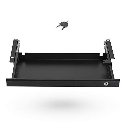 Schreibtischschublade abschließbar 500 x 265 x 45 mm schwarz Büro Unterbau Schublade von SO-TECH®