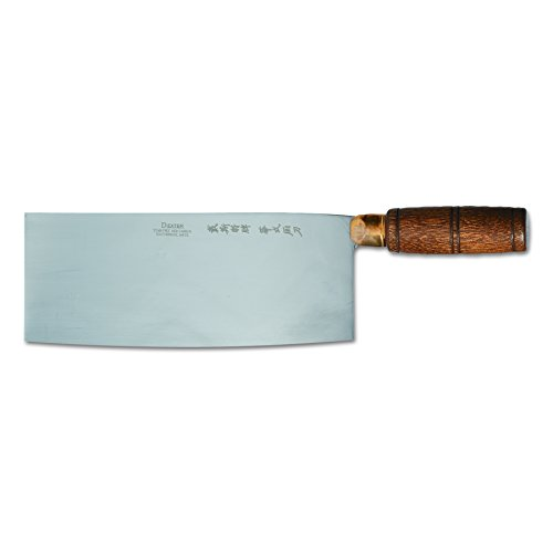 """Dexter S5198 8"""" x 3-1/4"""" Chinese Chefs Knife with Wooden Handle"""