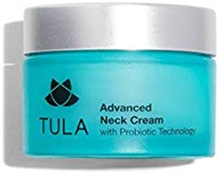 TULA Probiotic Skin Care Advanced Neck Cream   Neck Firming Cream with Shea Butter and Jojoba Oil, Reduce the Appearance of Fine Lines and Wrinkles   1.7 oz