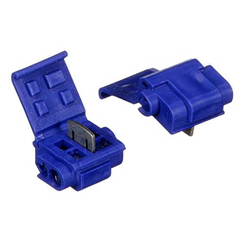 3M Scotchlok Electrical IDC 804-POUCH, Blue, 18-16 AWG(solid/stranded), 14 AWG (stranded), 25 per pouch