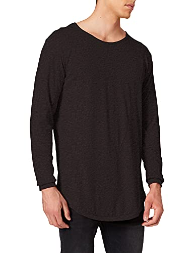 Urban Classics Shaped Fashion Long Sleeve Tee T-Shirt Homme, Noir (Charcoal), (Taille Fabricant: Large)