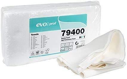 Virsus 400 Asciugamani di Carta in 8 Confezioni da 50pz 100% Pura Cellulosa 3 Veli 22gr/mq 40x80cm Massima Assorbenza per Parrucchieri, Barbieri, Estetiste