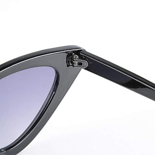 Gafas de sol de moda resistencia al desgaste, para viajes, al aire libre y deportes, para conducir en verano, montar a caballo (negro brillante todo gris flakes)