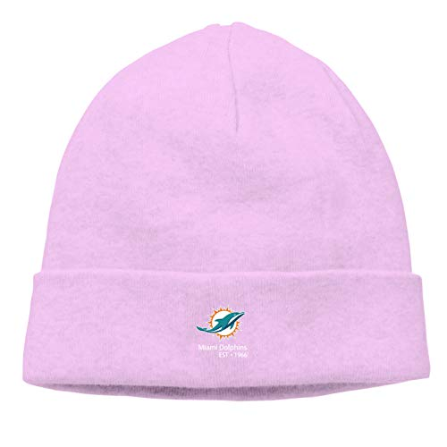 Fremont Die New-England-Patriots Daily Beanie Hat for Men Warm Winter Hats Thick Knit Cuff Beanie Cap Pink
