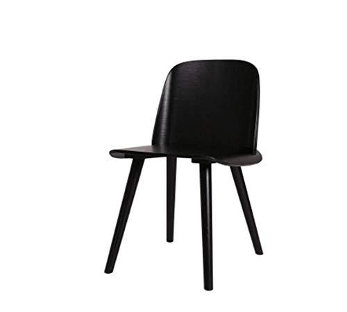 Dining Chairs ZHANGZZ Sillas de Comedor Artículos for el hogar Sillas de Madera, Marco de Madera.Restaurante, Sala, Oficina, sillas de Comedor (Color : Black)