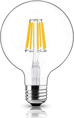 Bonlux Lampadina a led G125 E27 8W Dimmerabile Bianco Calda 2700K 125mm Vintage Retro ES Edison vite LED Filamento Globo Lampadina Sostituire 80W a Incandescenza for Soggiorno, Ristorante
