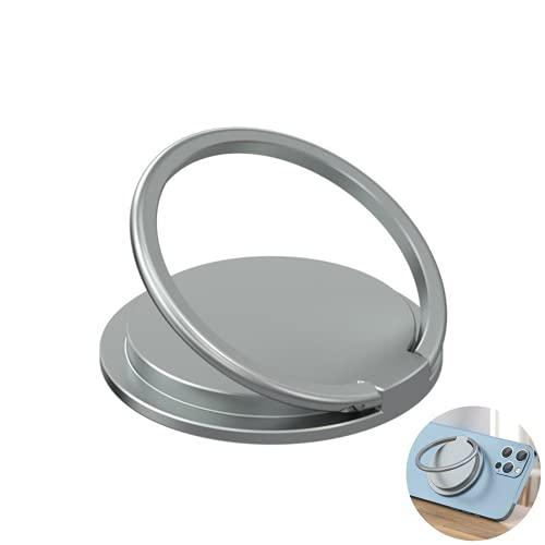 Tenedor de anillo de teléfono magnético, agarre de teléfono portátil de aleación de aluminio, compatible con la caja del teléfono para Magsafe, para iPhone 12 / Pro Max/Mini accesorios de teléfono.