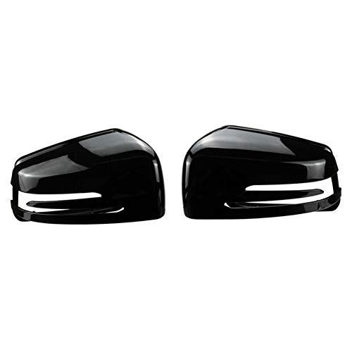 1 Par De Cubierta De Espejo De Puerta, Adecuado Para 2009-13 Mercedes-Benz S-Class Clase E Clase C E W212 W204 W221 Vista Retrovisor, Carcasa De Espejo, Negro Brillante