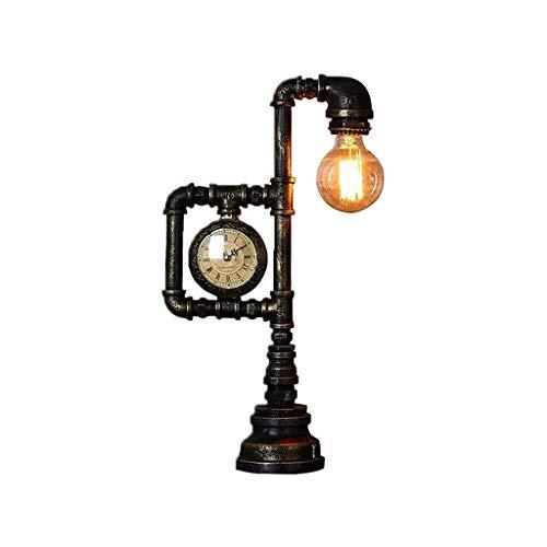 YXX Lámpara de Mesa Retro, Tubos de Agua de Hierro industriales Robot Lámpara de Mesa Vintage Tabla Luz Steampunk Desktop Light, Home Art Deco, Luz de Noche