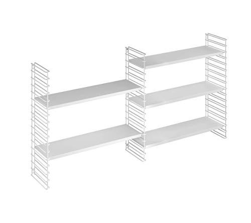 Tomado Zeitloses und modulares Wandregal, 68x21x68 cm