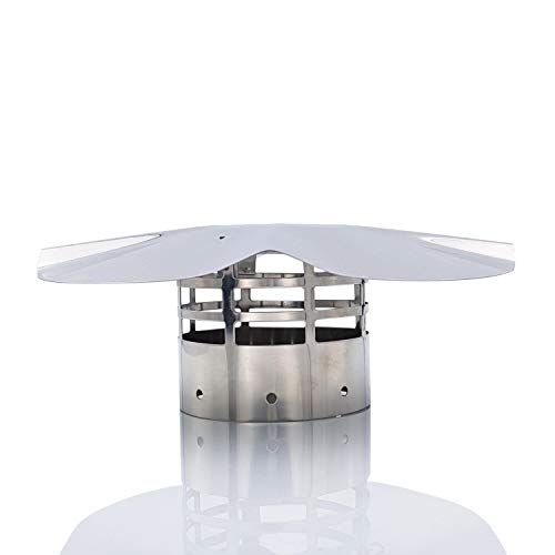 Tygerix - Terminal vertical para sombrero chino de acero inoxidable, antiincendios, diámetro de 80 mm, salida de humos, calderas y estufas + grosor +