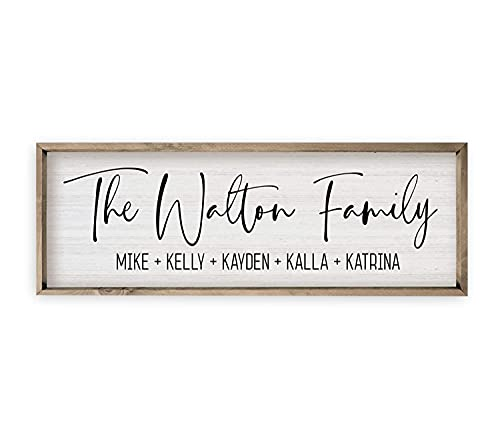 Personalized Framed Family Name Sign