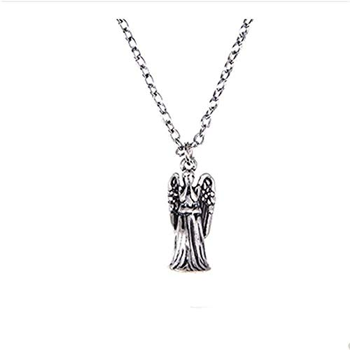 YUNQIYZH Co.,ltd Necklace for Men Women Doctor Who Pendant Keychain Necklace Crying Angel Doctor Who Fashion Pendant Necklace Girls Boys Gift