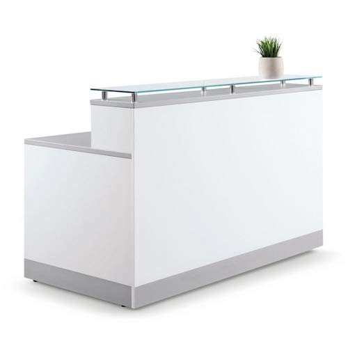 Esquire Glass High Reception Desk