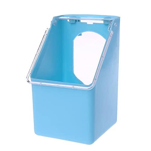 SPFCJL Tauben Wassereinzugspapageis Hängen Trinkkanne Vogelkäfig Wasserspender (Color : Blue)