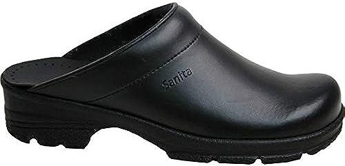 Sanita 821946 1010 Duty Griptec - Zueco de goma (tacón abierto, Größe 46), Farbe schwarz