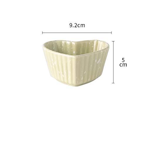 FaucetKAI Piatti Fondi Piatto Sapore Piatto Foglia di Loto Piatto Quadrato Salsa di soia Fatta in casa Piatto di aceto condimento Piatto a Forma di Cuore Piatto Verde