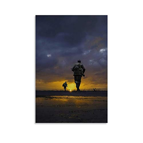 JHDSA Póster de la película de Sam Mendes de 1917 sobre lienzo de la película de la Guerra Mundial, interesante impresión artística artística artística moderna para dormitorio familiar de 30 x 45 cm