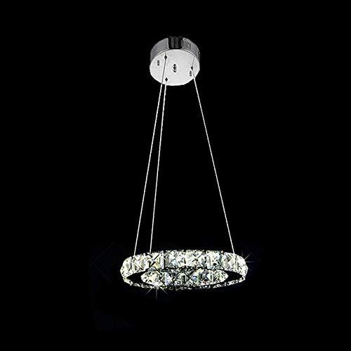 Lampadario a Sospensione Circolare a LED Lampadario in Cristallo Lampadario a Sospensione Lampadario a Sospensione Moderno E Minimalista Rotondo