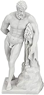 Design Toscano Farnese Hercules Roman God Statue, 10 Inch, Bonded Marble Polyresin, White
