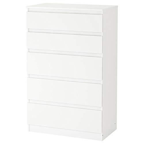 IKEA Cómoda KULLEN de 5 cajones blanco (70x40x112 cm)