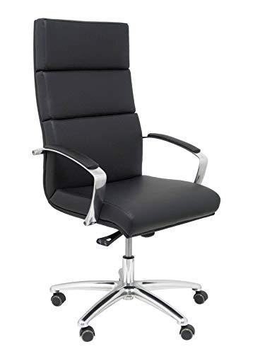 Piqueras Y Crespo (PIQU7) stoel van kunstleer zwart bureaustoel, eenheidsmaat