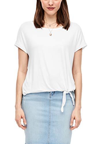 s.Oliver Damen 04.899.32.6071 Kurzarm T-Shirt, White, 34