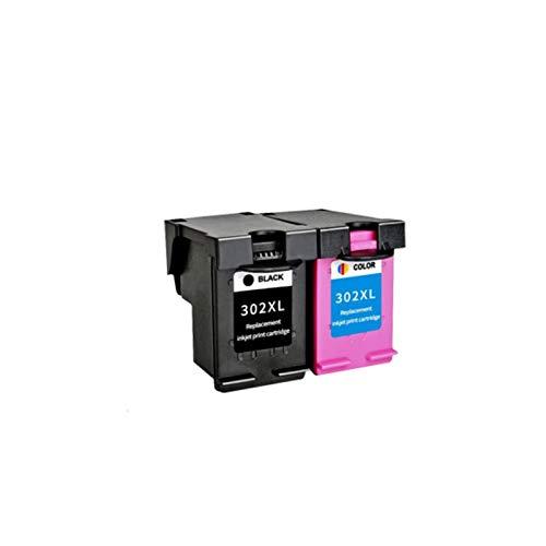 WTBH Cartucho de Tinta Reemplazo Compatible con 302XL para HP 302 HP302 302XL para Cartucho de Tinta HP302 XL para HP DeskJet 1110 1111 1112 2130 2131 Impresora Reemplace el Cartucho de Tinta