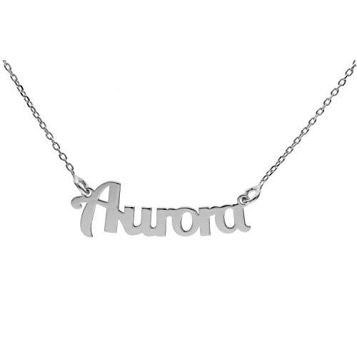 Collana con Nome in Argento (Aurora)