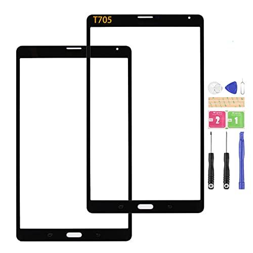 SRJTEK Compatible con Samsung Galaxy Tab S LTE T705 Pantalla Exterior Cristal 8.4 para SM-T705 Panel de lente frontal con kits (no pantalla LCD, no pantalla táctil)