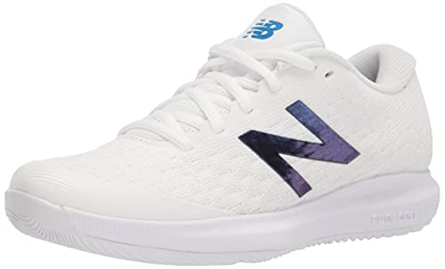 New Balance Women's FuelCell 996 V4 Tennis Shoe, White/Blue, 7