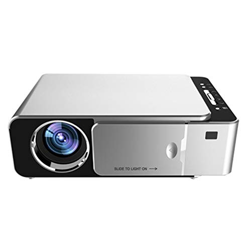 QK Mini Projector, Mini Portable Projector 720P LED Video Projector 30-170'Home Cinema Compatible with Iphone/Android/Laptop,A. Silver