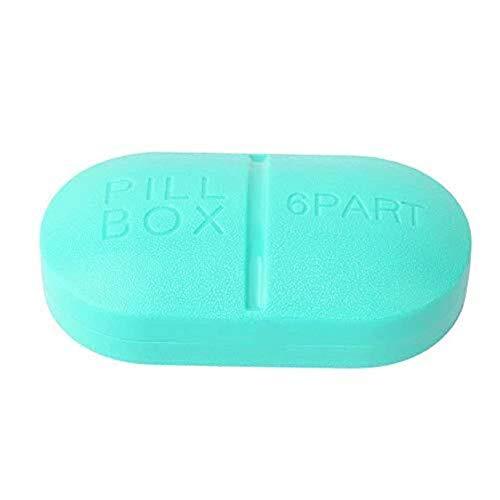 CHOUCHOU Shelves Portable Travel 6-Slot Medical Pill Box Holder Medicine Case Drug Storage New Flower Pot Rack