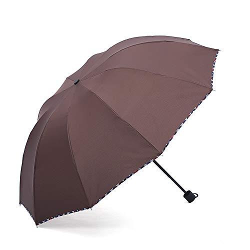 El Paraguas Plegable con Apertura y Cierre automáticos es Compacto y Ligero,Sombrilla de plástico Negra sombrilla Triple Sol colour4 104cm