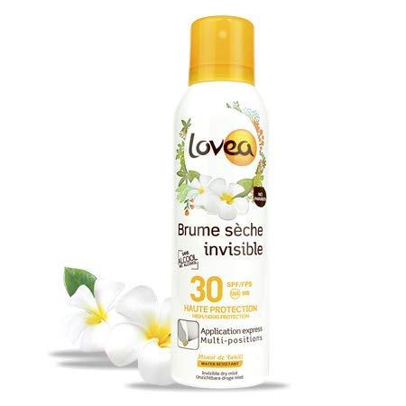 Lovea - Brume Sèche Invisible SPF30 Haute Protection 200 ml - Fabriqué en France - Protection UVA et UVB - Waterproof
