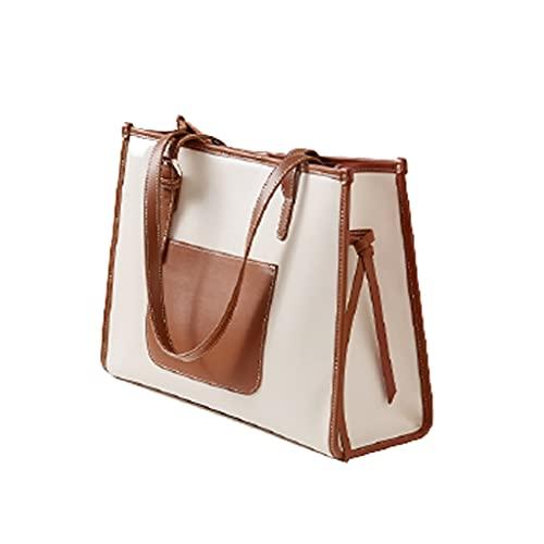 Maletín Retro de Cuero Convertible 13 Pulgadas Laptop Crossbody Bag Bolso de Viaje para jóvenes Bolso de Hombro para Mujer Bolso de Oficina (Color : Mocha Brown, tamaño : 14.2x4.9x10.2 Inch)