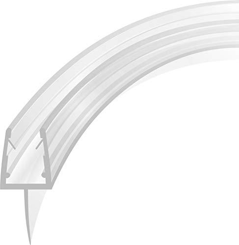 Duschdichtung Runddusche Ersatzdichtung Wasserabweiser Viertelkreis gebogen 1 m für eine 5-8 mm Glasstärke