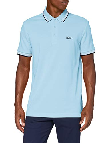 BOSS Herren Paddy Polohemd, Dark Blue (405), S