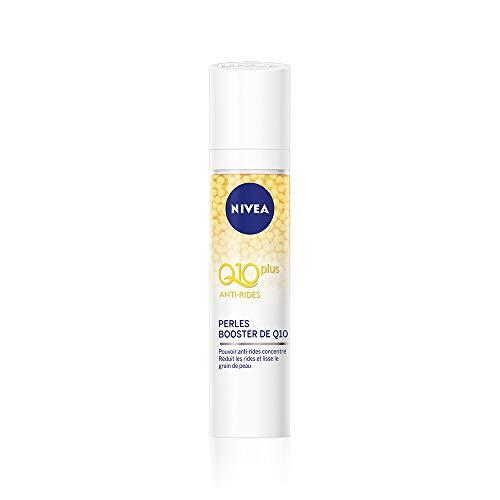 NIVEA Q10 Power Soin Perles Repulpantes Anti-Rides +Fermeté (1 x 40 ml), sérum visage enrichi en Q10 et créatine, soin visage femme pour tous types de peaux