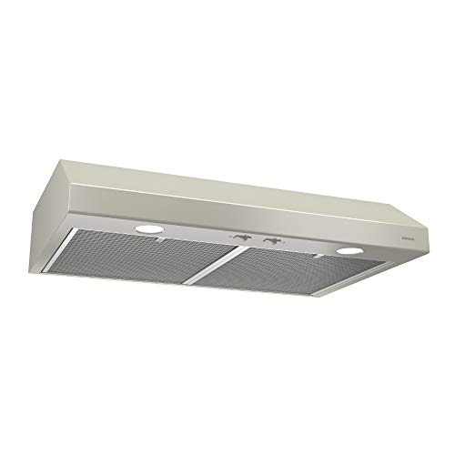 Broan-NuTone BCSD130BC Glacier Range Hood with Light, Exhaust Fan for Under Cabinet, 30 Inch, Bisque
